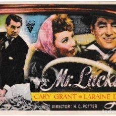 Cine: MR. LUCKY - LARAINE DAY - CARY GRANT - CINE RAMBLAS 1946. Lote 194372208