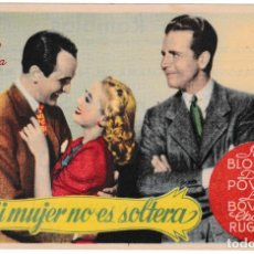 Cine: MI MUJER ES SOLTERA - JOAN BLONDELL - DICK POWELL - CINE RAMBLAS . Lote 194372412