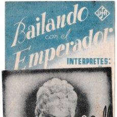 Cine: BAILANDO CON EL EMPERADOR - ATENEO RECREATIVO - SALLENT 1944. Lote 194372816
