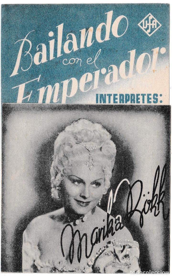BAILANDO CON EL EMPERADOR - CINE ALCÁZAR (Cine - Folletos de Mano - Musicales)