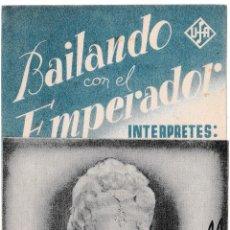 Cine: BAILANDO CON EL EMPERADOR - CINE ALCÁZAR. Lote 194372965
