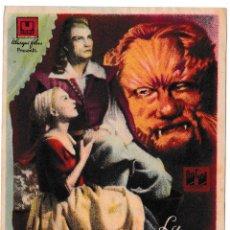 Cine: LA BELLA Y LA BESTIA - COLLA CORAL LA PAPALLONA DE SANS 1949. Lote 194379673