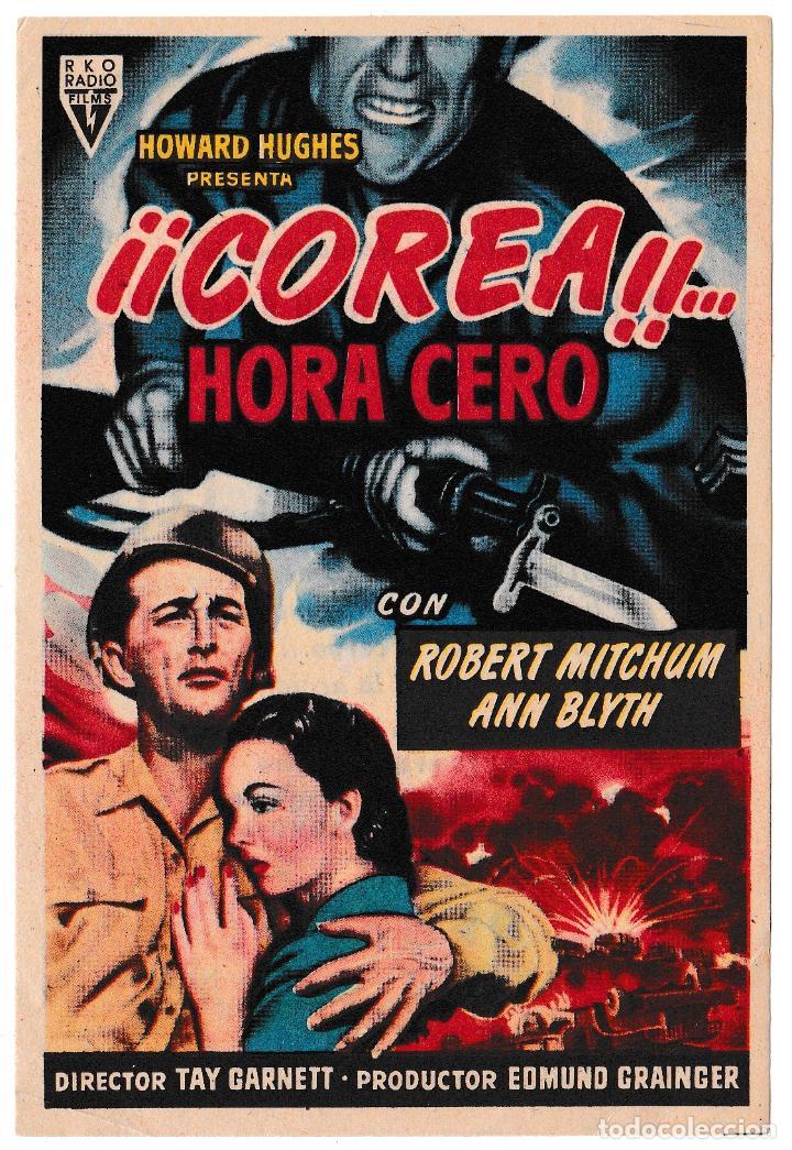 COREA HORA CERO - ANN BLYTH - ROBERT MITCHUM - CINE AVENIDA 1953 (Cine - Folletos de Mano - Bélicas)