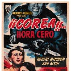 Cine: COREA HORA CERO - ANN BLYTH - ROBERT MITCHUM - CINE AVENIDA 1953. Lote 194380567