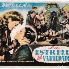 Cine: LA ESTRELLA DEL VARIEDADES - BARBARA STANWYCK - MICHAEL O'SHEA. Lote 194382785
