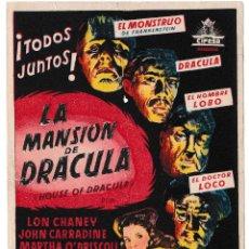 Cine: LA MANSIÓN DE DRÁCULA - CINE ESPRONCEDA 1948. Lote 194384740