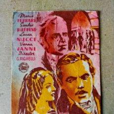 Cine: PROGRAMA DE CINE: EL CABALLERO DE SAN MARCOS. MARIO FERRARI - ORIGINAL SIN PUBLICIDAD.. Lote 194390017
