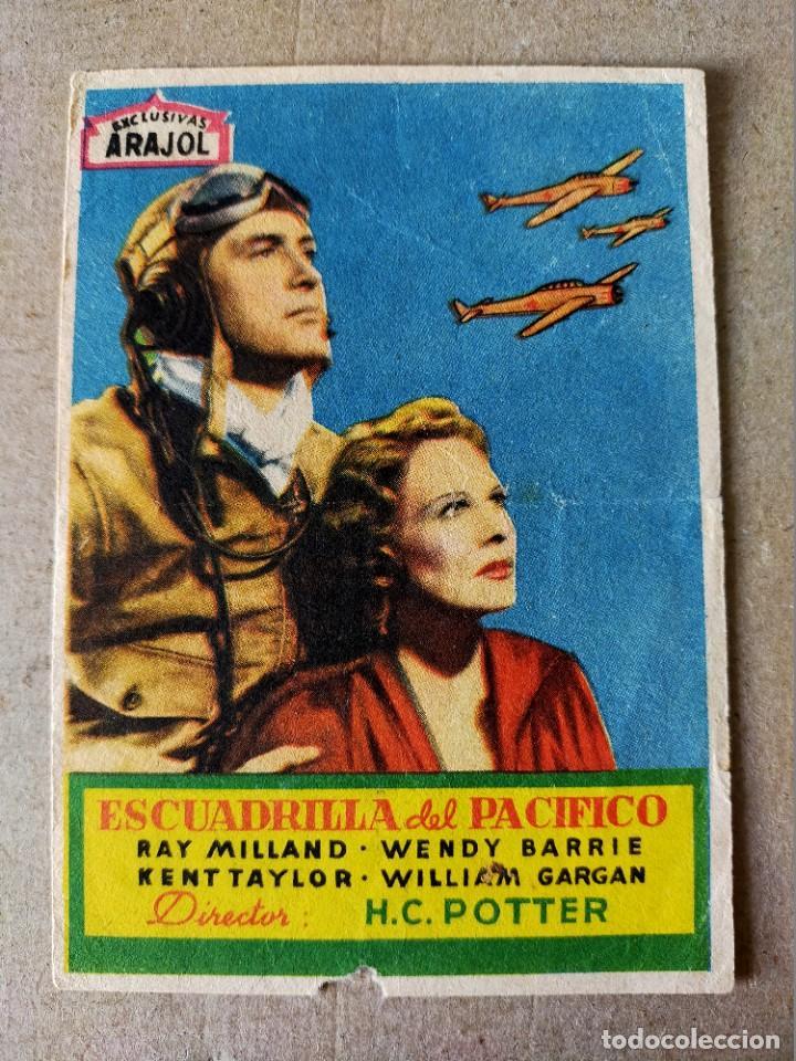 PROGRAMA DE CINE: ESCUADRILLA DEL PACIFICO CON R. MILLAND, W. BARRIE - ORIGINAL SIN PUBLICIDAD. (Cine - Folletos de Mano - Bélicas)