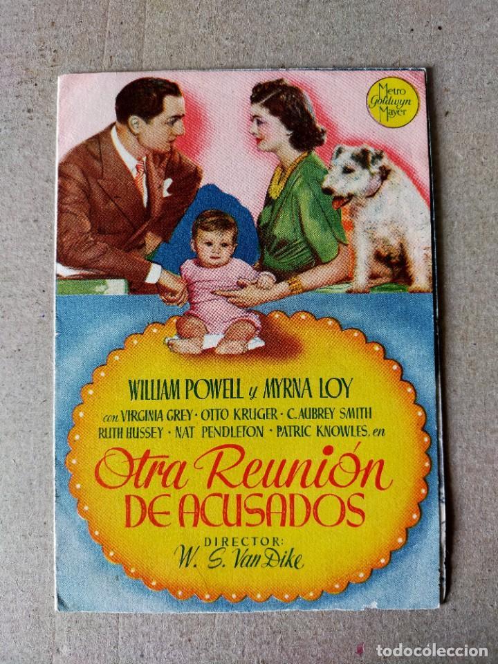PROGRAMA DE CINE: OTRA REUNION DE ACUSADOS. VIRGINIA GREY - DOBLE ORIGINAL SIN PUBLICIDAD (Cine - Folletos de Mano - Comedia)
