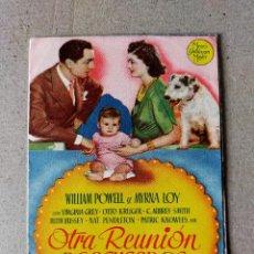 Cine: PROGRAMA DE CINE: OTRA REUNION DE ACUSADOS. VIRGINIA GREY - DOBLE ORIGINAL SIN PUBLICIDAD. Lote 194392382