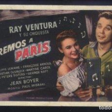 Cine: P-2399- IREMOS A PARIS (NOUS IRONS À PARIS) RAY VENTURA - PHILIPPE LEMAIRE - FRANÇOISE ARNOUL. Lote 194495027