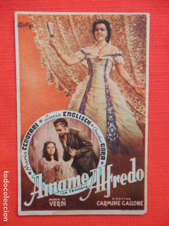 AMAME ALFREDO, SENCILLO, MARIA CEBOTARI, C/PUBLI CINE RIGAT CAMPRODÓN 1948 (Cine - Folletos de Mano - Drama)