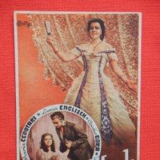 Cine: AMAME ALFREDO, SENCILLO, MARIA CEBOTARI, C/PUBLI CINE RIGAT CAMPRODÓN 1948. Lote 194509213