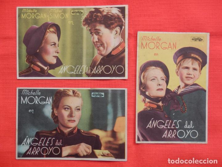 ANGELES DEL ARROYO, 3 SENCILLORS ORIGINALES, MICHELLE MORGAN, SIN PUBLICIDAD (Cine - Folletos de Mano - Drama)