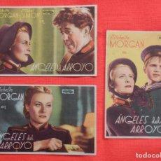 Cine: ANGELES DEL ARROYO, 3 SENCILLORS ORIGINALES, MICHELLE MORGAN, SIN PUBLICIDAD. Lote 194509798