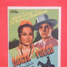 Cine: DANZA DE FUEGO, SENCILLO GRANDE ORIGINAL, ANTOÑITA COLOMÉ, SIN PUBLICIDAD. Lote 194511682