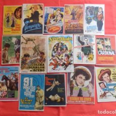 Cine: LOTE 100 PROGRAMAS ORIGINALES VARIADOS, AÑOS 40/50/60, LS124. Lote 194517751