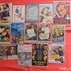 Cine: LOTE 100 PROGRAMAS ORIGINALES VARIADOS, AÑOS 40/50/60, LS125. Lote 194518528