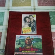 Cine: ALBUM CON 235 FOLLETOS DE MANO (VER DESCRIPCION). Lote 194523043