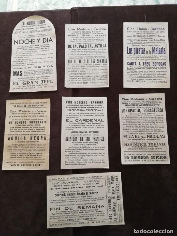 Cine: ALBUM CON 235 FOLLETOS DE MANO (VER DESCRIPCION) - Foto 9 - 194523043
