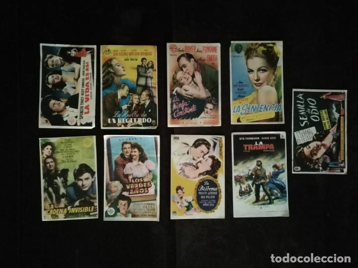 Cine: ALBUM CON 235 FOLLETOS DE MANO (VER DESCRIPCION) - Foto 38 - 194523043