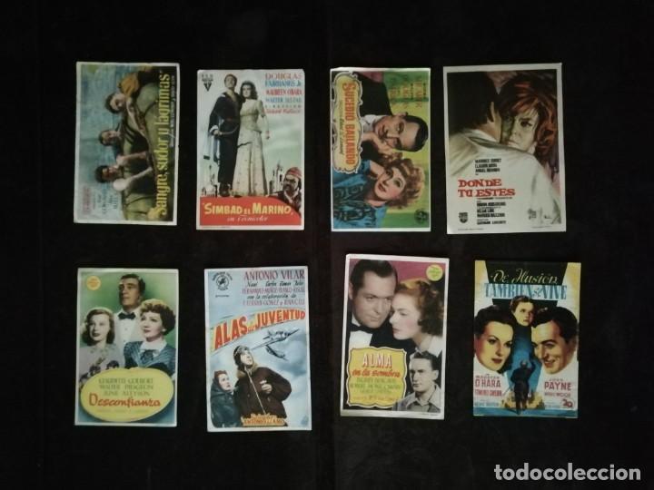 Cine: ALBUM CON 235 FOLLETOS DE MANO (VER DESCRIPCION) - Foto 39 - 194523043