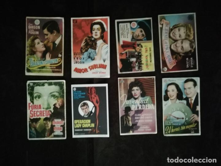 Cine: ALBUM CON 235 FOLLETOS DE MANO (VER DESCRIPCION) - Foto 40 - 194523043