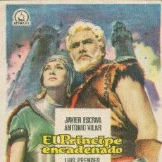 Cine: EL PRÍNCIPE ENCADENADO (CON PUBLICIDAD). Lote 194530648