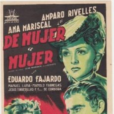 Cine: DE MUJER A MUJER. Lote 194531345