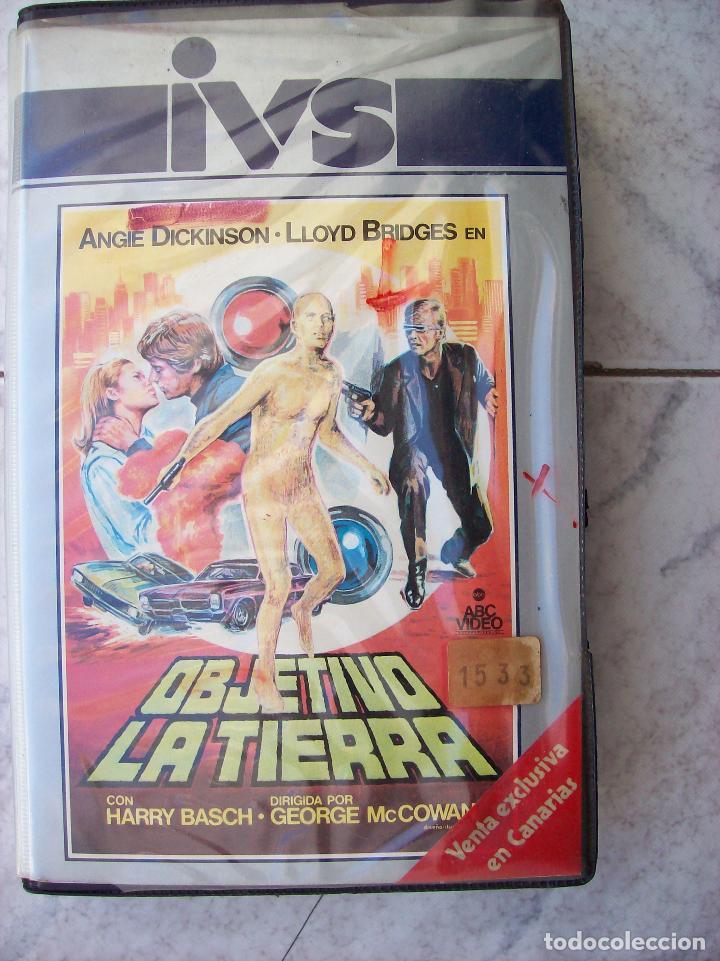 OBJETIVO LA TIERRA VHS (Cine - Folletos de Mano - Ciencia Ficción)