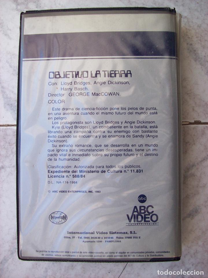 Cine: OBJETIVO LA TIERRA VHS - Foto 2 - 194533858