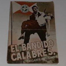 Cine: ANTIGUO PROGRAMA GUIA DE CINE - EL BANDIDO CALABRES - SUEVIA FILMS AÑO 1948 AMADEO NAZZARI. Lote 194576988