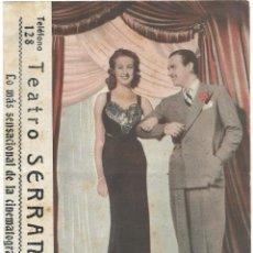 Cine: DOBLE LA SENSACIÓN DE PARIS - DOUGLAS FAIRBANKS JR - PUBLICIDAD TEATRO SERRANO SUECA . Lote 194621401