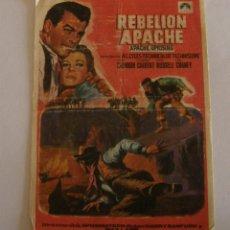 Cine: PROGRAMA DE CINE REBELION APACHE. Lote 194670391