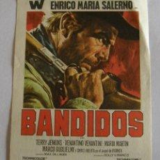 Cine: PROGRAMA DE CINE BANDIDOS. Lote 194670575