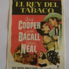 Cine: PROGRAMA DE CINE EL REY DEL TABACO. Lote 194671943