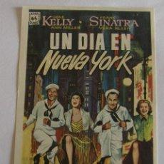 Cine: PROGRAMA DE CINE UN DIA EN NUEVA YORK. Lote 194673595