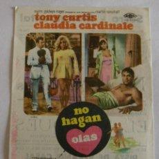 Cine: PROGRAMA DE CINE NO HAGAN OLAS. Lote 194673835