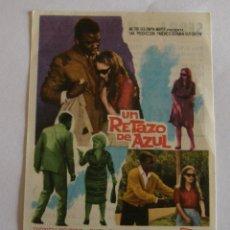 Cine: PROGRAMA DE CINE UN RETAZO DE AZUL. Lote 194674580