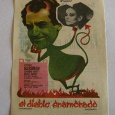 Cine: PROGRAMA DE CINE EL DIABLO ENAMORADO. Lote 194675865