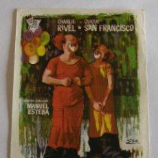 Cine: PROGRAMA DE CINE EL APRENDIZ DE CLOWN. Lote 194676012