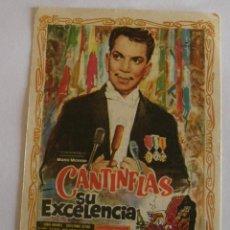 Cine: PROGRAMA DE CINE CANTINFLAS SU EXCELENCIA. Lote 194676231