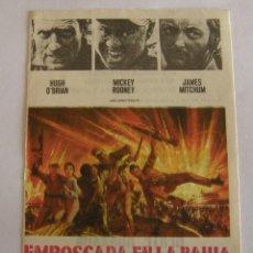 Cine: PROGRAMA DE CINE EMBOSCADA EN LA BAHIA. Lote 194676420