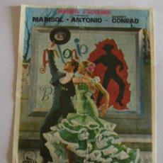 Flyers Publicitaires de films Anciens: PROGRAMA DE CINE LA NUEVA CENICIENTA. Lote 194678177