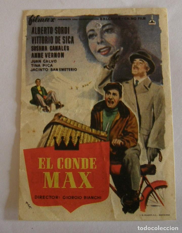 PROGRAMA DE CINE EL CONDE MAX (Cine - Folletos de Mano - Comedia)