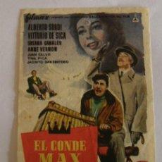 Cine: PROGRAMA DE CINE EL CONDE MAX. Lote 194679103