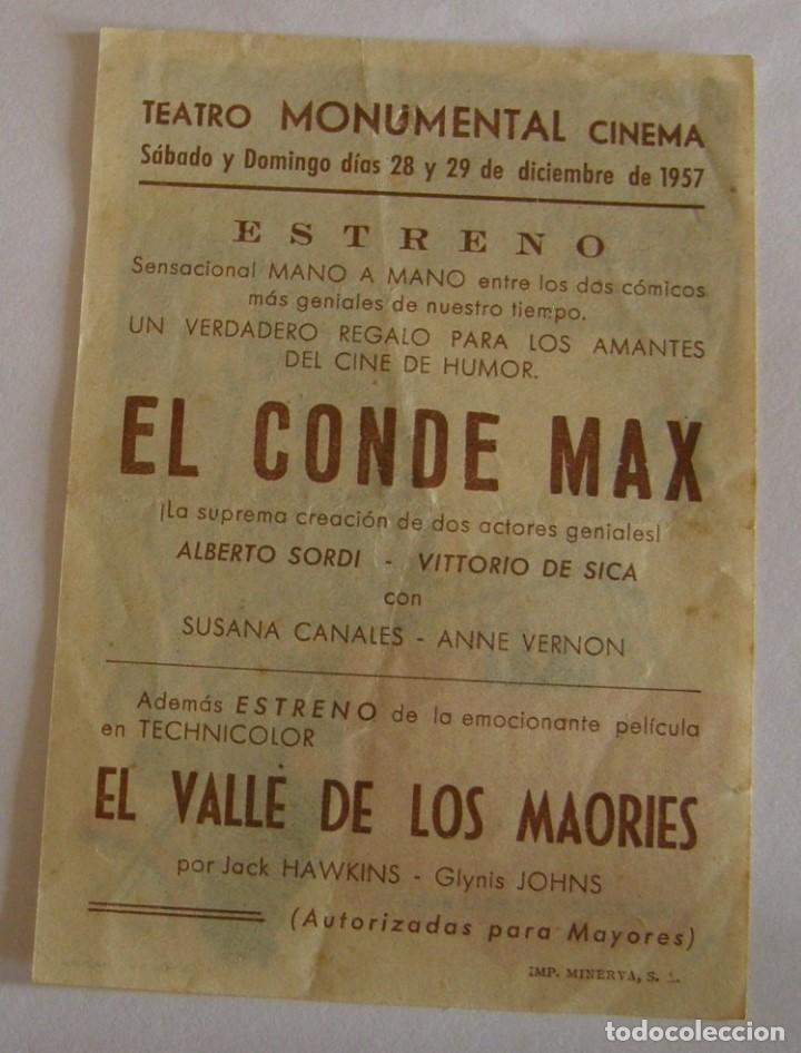 Cine: PROGRAMA DE CINE EL CONDE MAX - Foto 2 - 194679103
