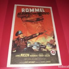 Cine: ROMMEL EL ZORRO DEL DESIERTO. PUBLICIDAD AL DORSO.AÑO 1951.. Lote 194711096