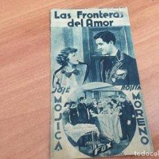 Cine: LAS FRONTERAS DEL AMOR JOSE MOJICA ROSITA MORENO . 1935 BARCELONA CATALAN (CRIP6). Lote 194718347