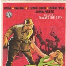 Cine: PROGRAMA DE CINE - TRAS EL SOL NACIENTE - MARGO, TOM NEAL - TEATRO CERVANTES (MÁLAGA)- 1943.. Lote 194718472